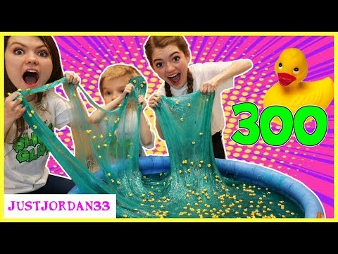 300 Pounds Slime - Duck Pond!🦆 / JustJordan33