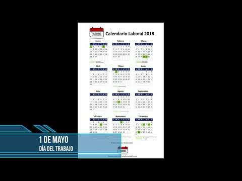 Calendario Laboral 2018 - Festivos nacionales 2018 -