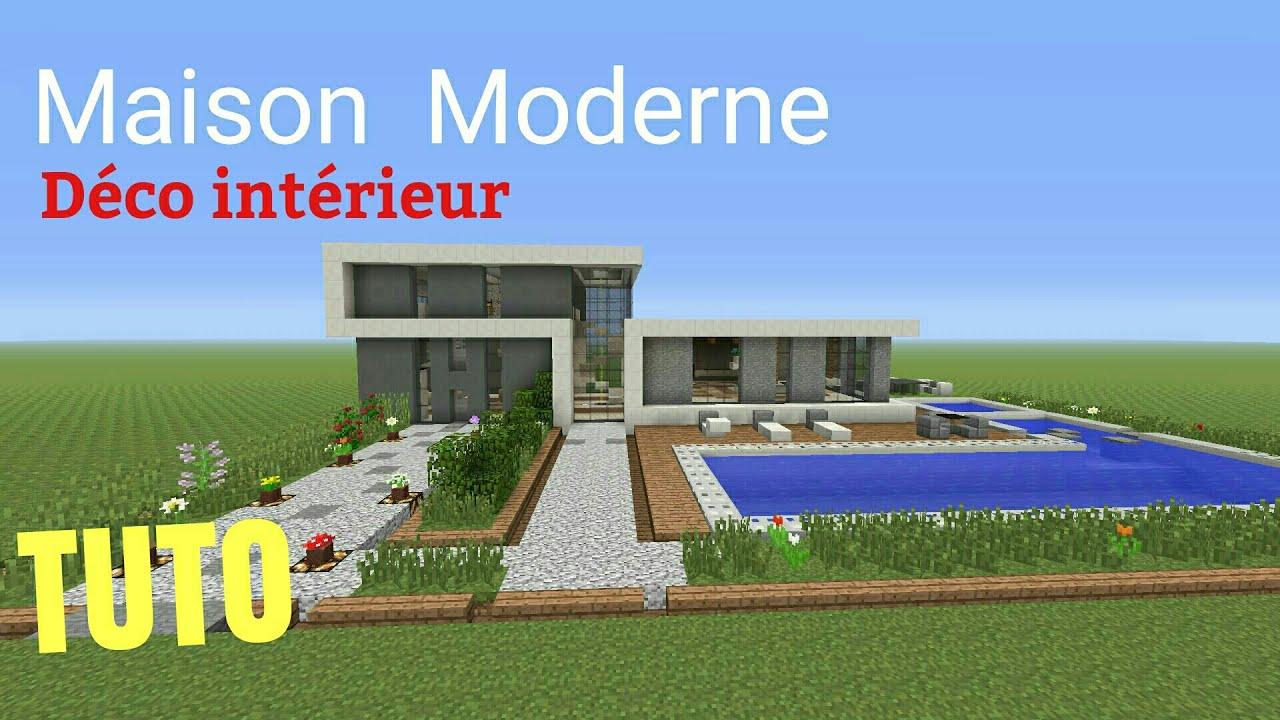 TUTO Minecraft Maison Moderne déco intérieur PS4 (PS3/XBOX360 ...