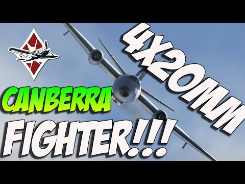 War Thunder - CANBERRA FIGHTER! NEED NERF NOW! War Thunder Jet Bomber!
