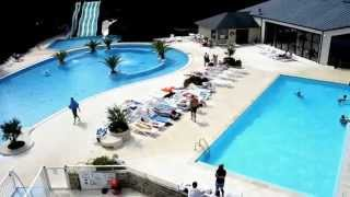 Vue 360° du Parc Aquatique du camping Mané Guernehué à Baden, Golfe du Morbihan