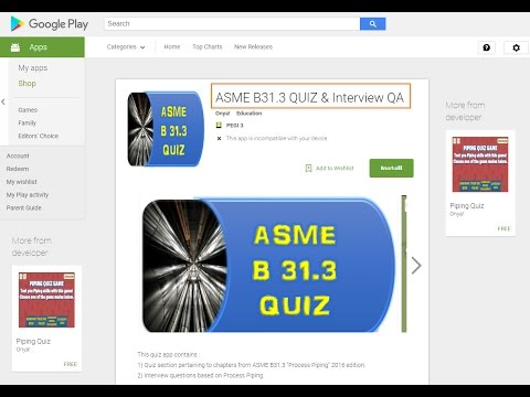 ASME B31 3 QUIZ Process Piping Interview Question  Answers