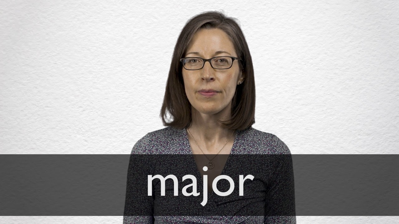 How to pronounce MAJOR in British English
