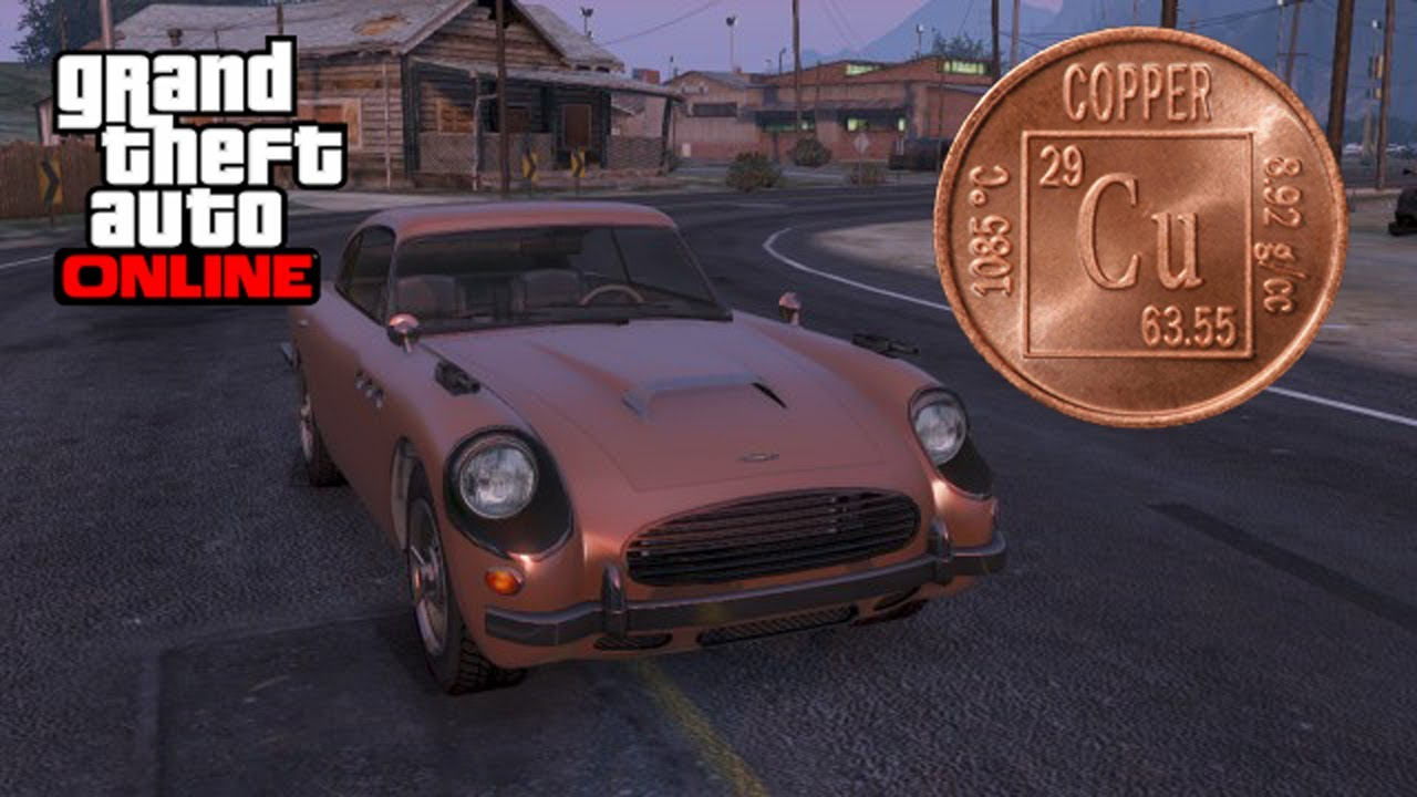 GTA 5 Online - Real Copper Paint (GTA 5 Online Paint Job) - YouTube