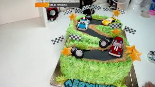 Оформление торта для мальчика Торт дорога Торт Цифра 5 Машинки для торта Танинторт