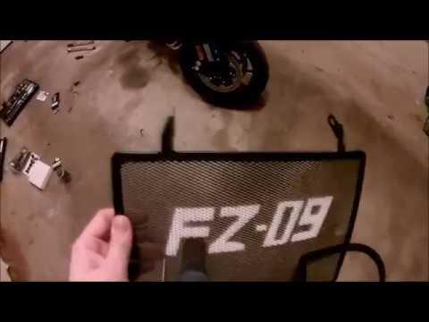 Radiator Guard Install - FZ 09