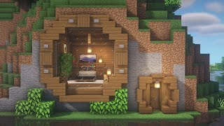 Minecraft | How to build a Riverside Mountain House