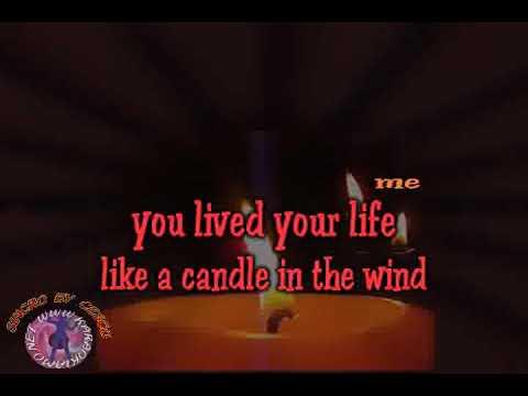 England's Rose - Elton John - Candle in the wind (con cori) (karaoke fair use)