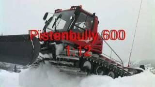 PistenBully 600 model in the snow (PB600)