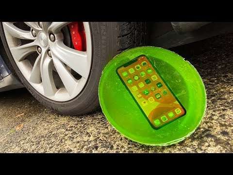 Can World's Strongest Jello Protect iPhone 11 Pro from Tesla Model S?