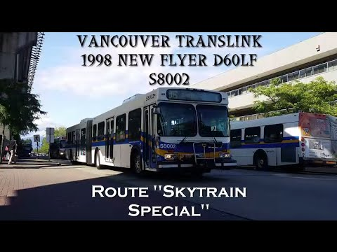 Vancouver Translink 1998 New Flyer D60LF S8002: Skytrain Special