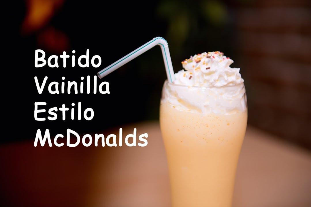 Batido de Helado de Vainilla Copycat McDonalds