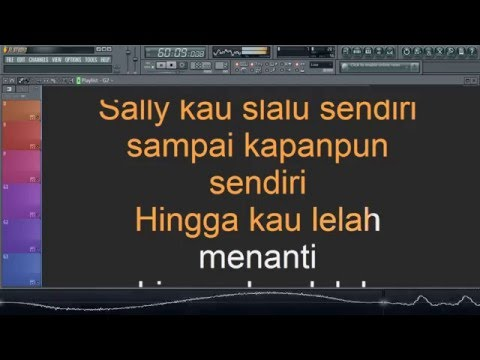 Peterpan - Sally Sendiri Karaoke Lyrics Instrumental No Vocal