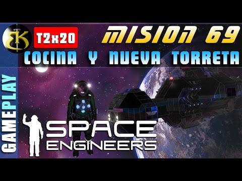 M69 2x20 Cocina y nueva torreta ofensiva ► SPACE ENGINEERS ► Gameplay Español veg
