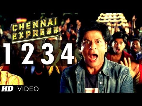 e Two Three Four Chennai Express Sg  Shahrukh Khan, Deepika Paduke