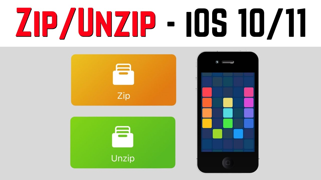 How to zip and unzip files in iOS (iPhone/iPad)