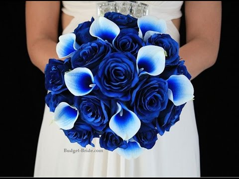 royal blue flowers for wedding ramos de novia azules 7155