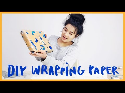 DIY WRAPPING PAPER | Furrylittlepeach