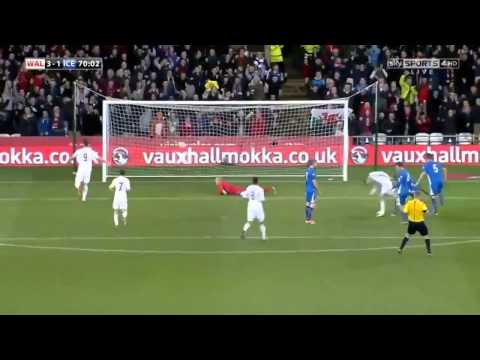 Gareth Bale Amazing Solo Skill Goal vs Iceland  5/3/14