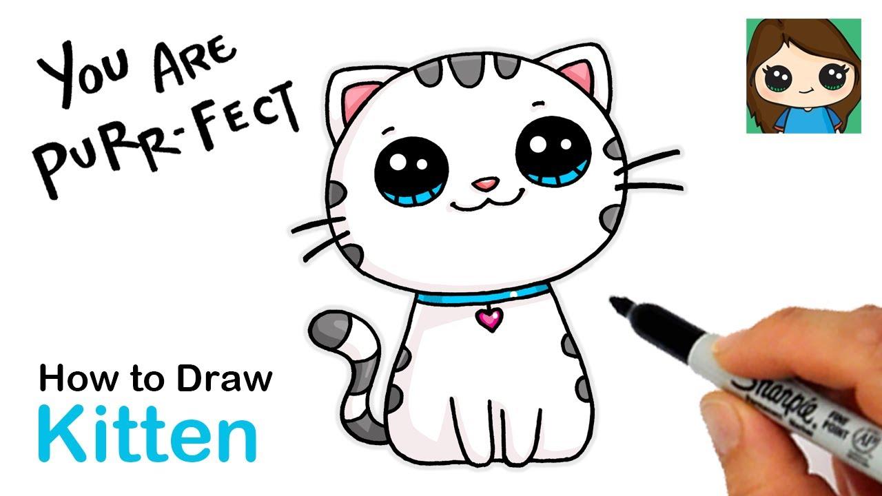 How To Draw A Kitten Easy Cute Pun Art 13 Youtube