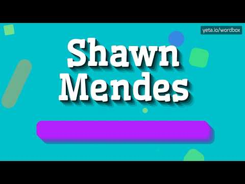 SHAWN MENDES - HOW TO PRONOUNCE IT!? (HIGH QUALITY VOICE)