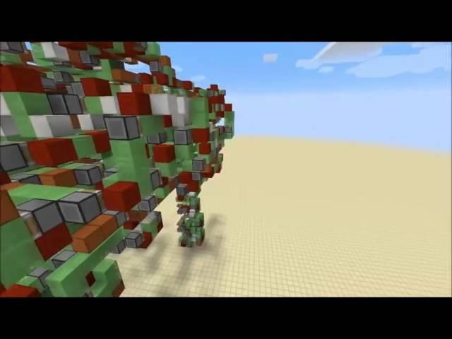 Dans Minecraft ce joueur créé un robot géant capable de se déplacer et de tirer des missiles