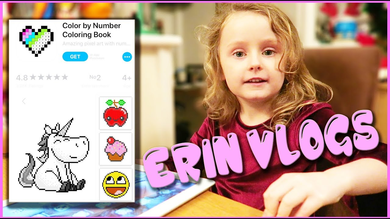 - ERIN VLOGS - BEST FREE APPS FOR KIDS - COLOR NUMBER - IPHONE