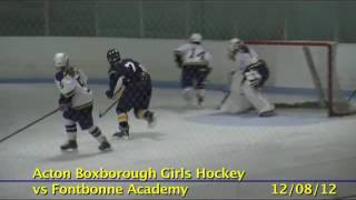 Acton Boxborough Varsity Girls Hockey vs Fonnborne 12/08/12