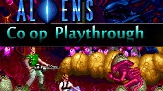 Game | Aliens Arcade Game Konami Co op Playthrough 2 Players | Aliens Arcade Game Konami Co op Playthrough 2 Players