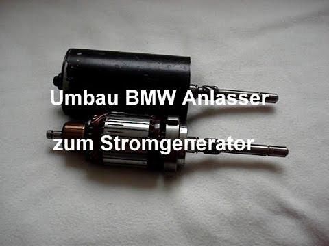 Ganz und zu Extrem Umbau Anlasser BMW zu Gleichstrom Generator - YouTube @RC_91