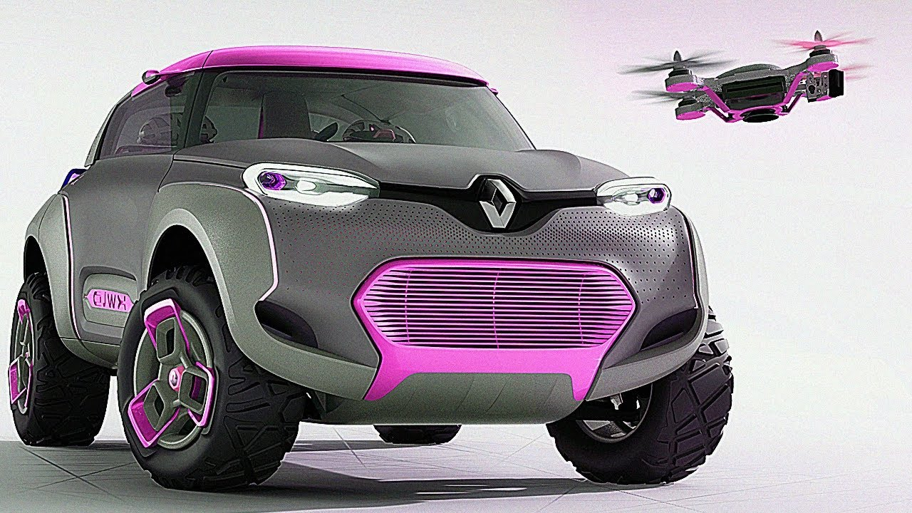 Renault Kwid Car With Built In Drone Quadcopter