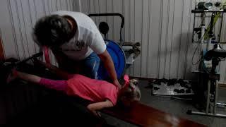Лечебная гимнастика,доска Евминова,массажи при сколиозе левостороннем 3ст.Первые занятия Златы,ч3.