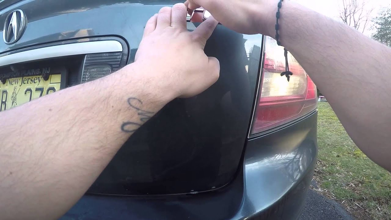 Acura TL Emblem Badge Replacement YouTube - Acura type s emblem