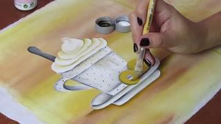 Pintura em tecido: Xícara super fácil – Sem contorno
