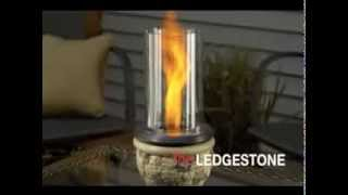 Ogc - Venturi Flame Gel Fire Pits - Feu De Table Au Gel Ledgestone De Outdoor Greatroom