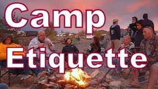 Camp Etiquette for Nomads