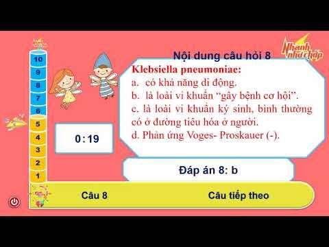 trắc nghiệm Klebsiella / ThS Nhu