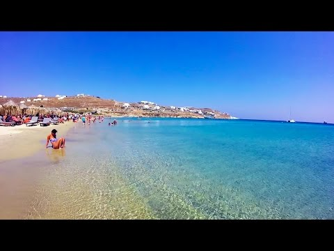 Kalo Livadi Mykonos Greece. Map route of how to get to the beach.