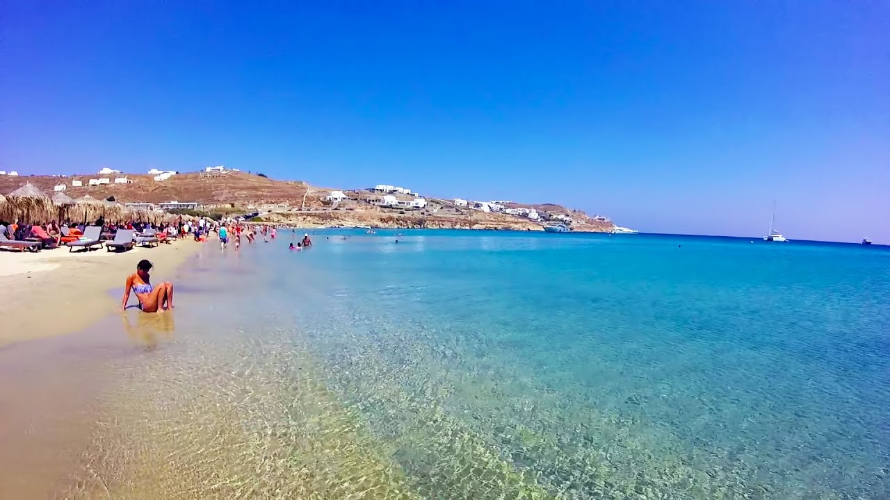 Kalo Livadi Mykonos Greece Map route of how to get to the beach