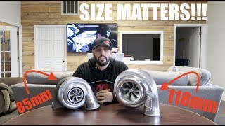 SIZE MATTERS!! 118mm turbo is TOO BIG!!!
