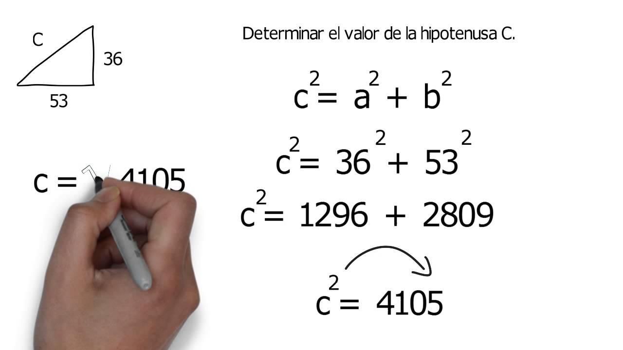 ejemplo del teorema de pitagoras youtube
