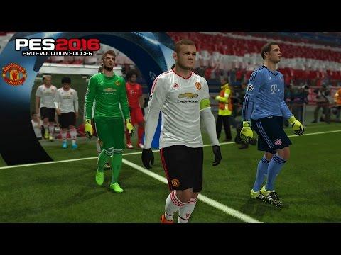 PES 2016 Bayern Munich vs Manchester United Champhion League Round 2nd Leg