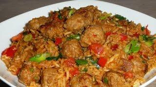 очень вкусный рис с колбасками от Гордона Рамзи