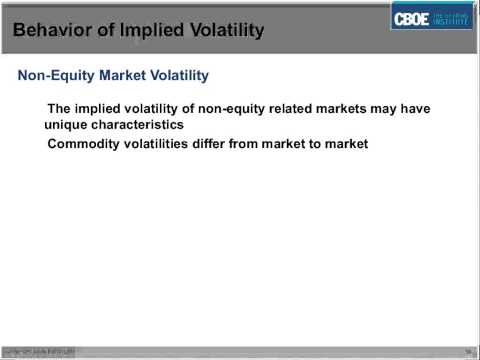 CBOE - Understanding Implied Volatility