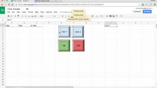 Wie kann ich eine Zeit-tracker oder punch clock mit Google Sheets?