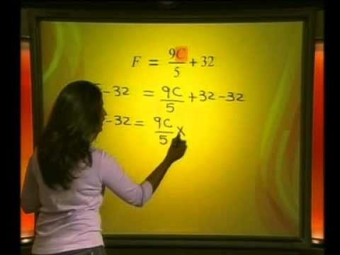 Mathematics - Linear Equations: Changing the Subject of a Formula