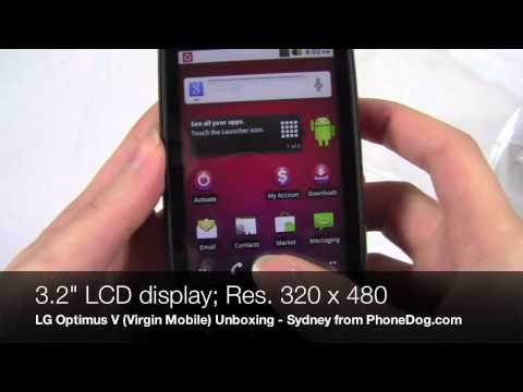 LG Optimus V Unboxing