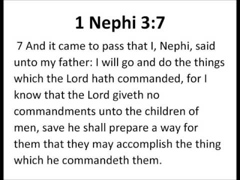 1 Nephi 3:7 LDS Book of Mormon Scripture Mastery