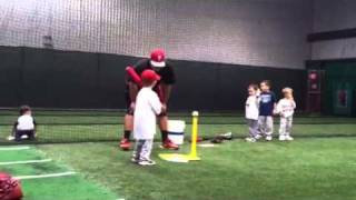 Little Boy running to wrong base