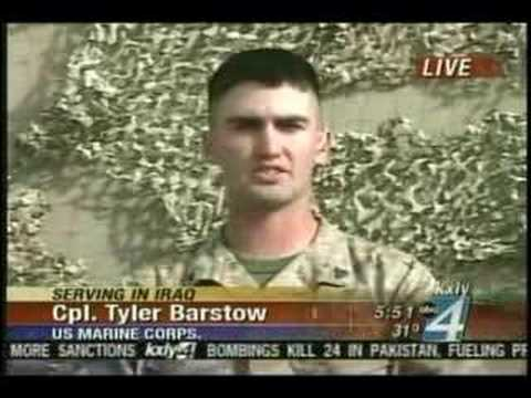 Marine in Iraq is Interview by Mike Gonzalez of KXLY 4